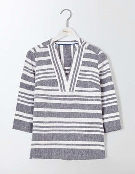 Navy and Ivory Stripe Rosemary Top