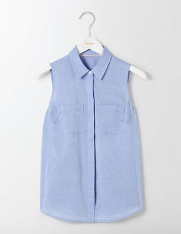 Chambray Sleeveless Shirt