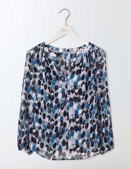 Blues Feathers Felicity top