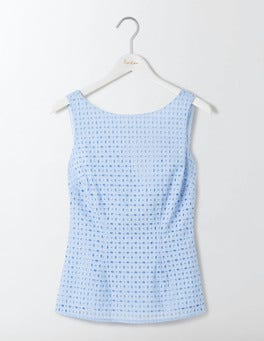 Powder Blue Vanda Broderie Top