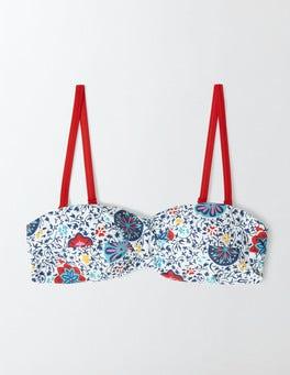 Multi Mosaic Floral Vine Amalfi Bandeau Bikini Top