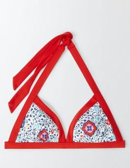 Multi Mosaic Floral Vine Ischia Halter Bikini Top