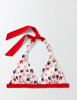 Ivory Swallow Swoop Bordeaux Bikini Top