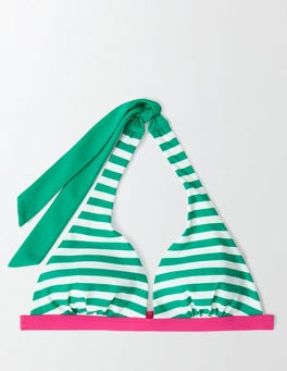 Meadow Green/Ivory Swim Stripe Bordeaux Bikini Top
