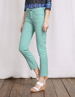 Tropical Blue Cambridge Ankle Skimmer Jeans