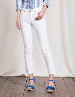 White Cambridge Ankle Skimmer Jeans