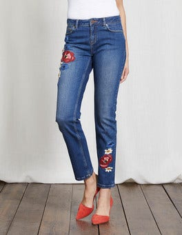 Embroidered Cavendish Girlfriend Jeans