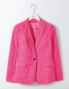 Mid Pink Broderie Blazer