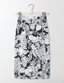 Navy Floral Richmond Skirt