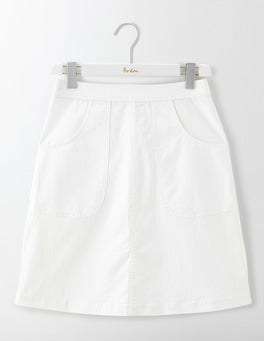 White Rachel Chino Skirt