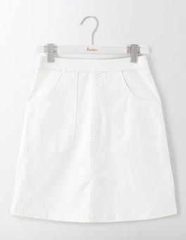 White Rachel Chino Skirt