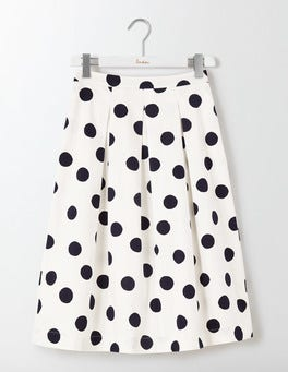 Ivory Scattered Spot Lola Skirt