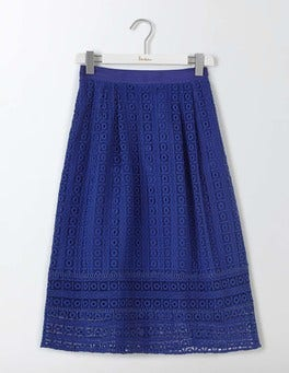 Imperial Blue Althea Lace Skirt