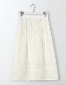 Ivory Althea Lace Skirt