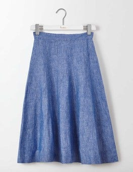 Blue Chambray Cora Skirt