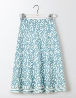 Blue Acanthus Leaf Cora Skirt