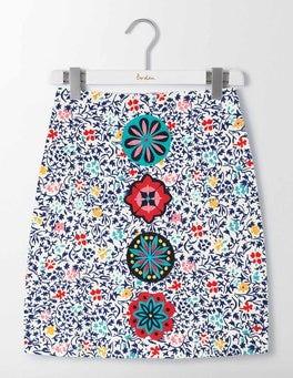 Ivory/Imperial Blue Mono Vine Katrina Skirt