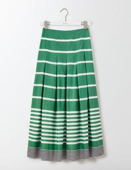 Green Multistripe Beatrice Skirt