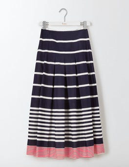 Navy Multistripe Beatrice Skirt