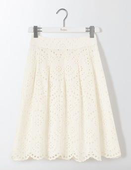 Ivory Isadora Broderie Skirt