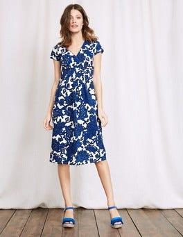 Island Sapphire Island Vine Casual Jersey Dress