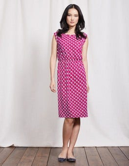 Camellia Swan Geo Blackberry Dress