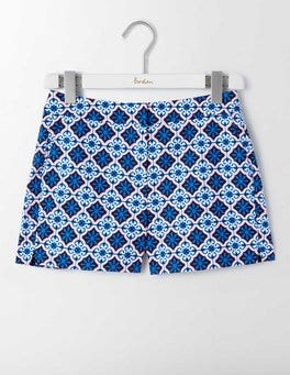 Island Sapphire, Tile Print Richmond Shorts