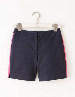 Navy W/ Mid Pink Waistband Richmond Shorts