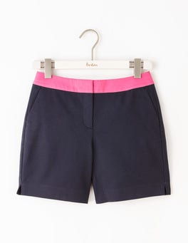 Navy W/ Mid Pink Richmond Shorts