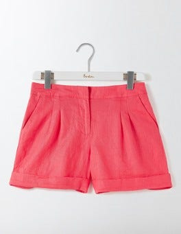Coral Reef Lottie Linen Shorts