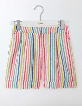Colour Stripe Lottie Linen Shorts