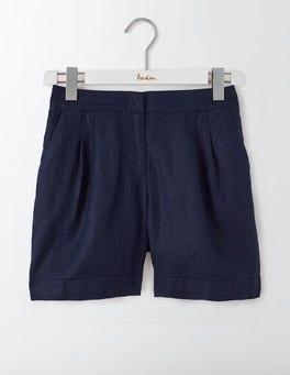 Navy Lottie Linen Shorts