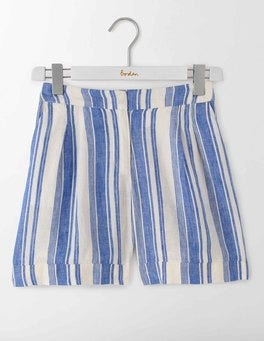 Blue Stripe Lottie Linen Shorts