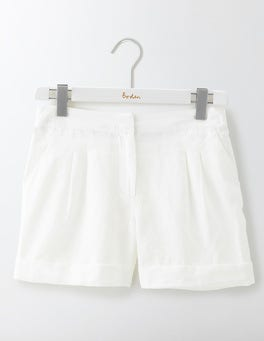 White Lottie Linen Shorts