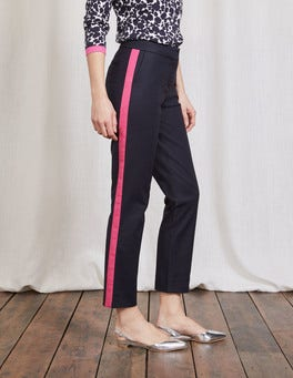 Navy with Mid Pink Tipped Richmond 7/8 Pants