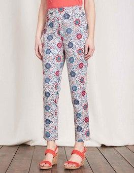 Multi Mosaic Floral Vine Al Fresco 7/8 Pants