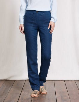 Imperial Blue Coralie Linen Trousers