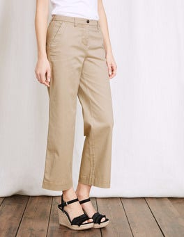 Rachel Wide Crop Chino Pant