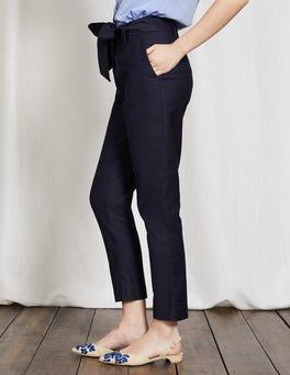 Navy Natalia Tie Trousers