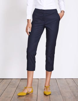 Navy Richmond Capri Trouser