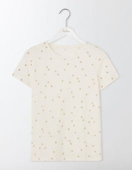 Ivory Wobbly Spot Make a Statement Tee