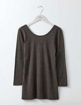 Charcoal Marl Supersoft Ballet Back