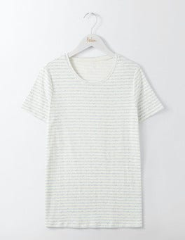 Ivory Postcard Lightweight Printed Crew Neck