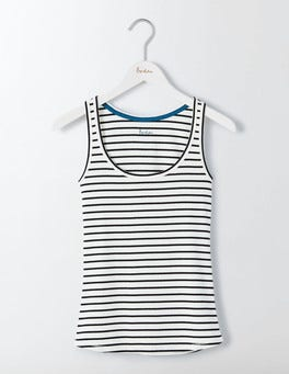 Ivory/Black Essential Tank