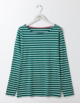 Deep Forest/Ivory Long Sleeve Breton