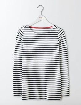 Ivory/Navy Long Sleeve Breton