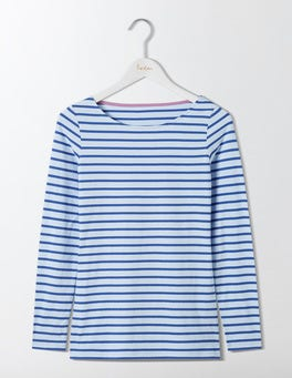 Powder Blue/Santorini Blue Long Sleeve Breton