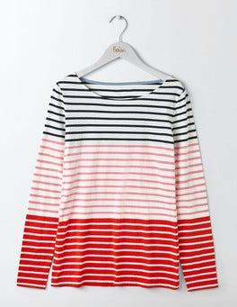 Pink Fizz Multi Stripe Long Sleeve Breton