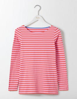 Lavender Rose/Dahlia Red Long Sleeve Breton