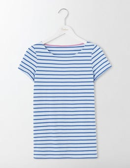 Powder Blue/Santorini Blue Short Sleeve Breton